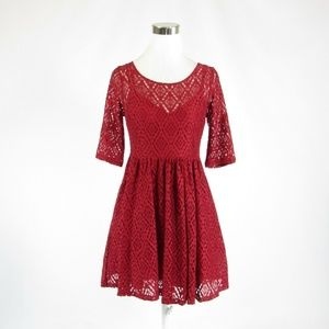 Plenty by Tracy Reese red lace stretch dress 4